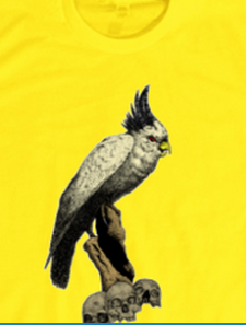 bird on shirt